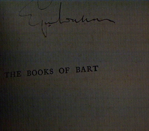 (SIGNED EDGAR WALLACE!)The Books Of Bart